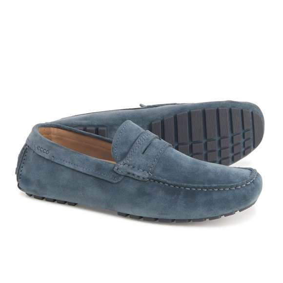 Ecco Dynamic Moc 2.0 Driver Suede Leather Loafer
